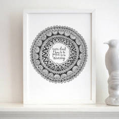 Personalised be amazing print