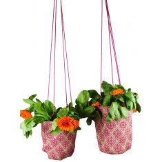 Baroque hanging pot plant holders (set of 2)