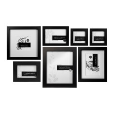 Black slim box wall of frames