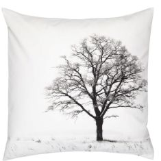 Winter tree cushion cover