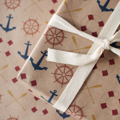 Anchors away wrapping paper