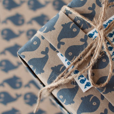 A whale of a time wrapping paper
