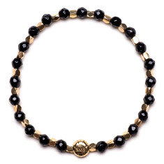 Signature bracelet in black agate