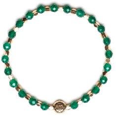 Signature bracelet in green agate
