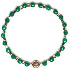 Signature bracelet in green agate