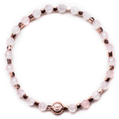 Signature bracelet in rose quartz