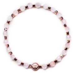 Signature bracelet in rose quartz