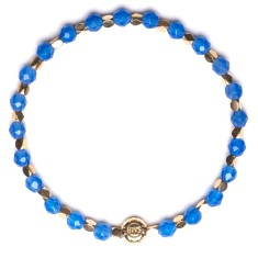 Signature bracelet in blue agate