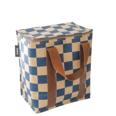 Large insulated picnic bag in check print