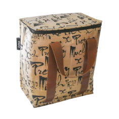 Large insulated lunch box in pretty much print