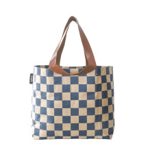 Shopper bag in check print