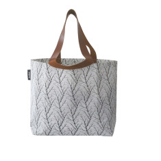 Shopper bag in twigs print