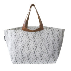 Twigs Print Beach Bag