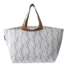 Twigs Print Beach Bag