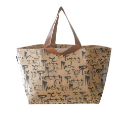 Pretty Much Print Beach Bag