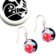 Kyoto tensha earrings in noir