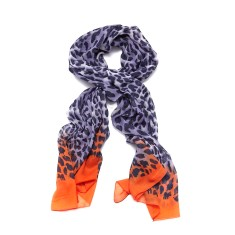 Leopard ombre scarf