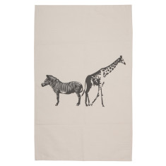 Zebra & giraffe tea towel