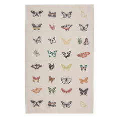 Natural butterfly tea towel