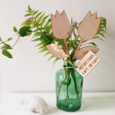 In your own words personalised wooden tulip