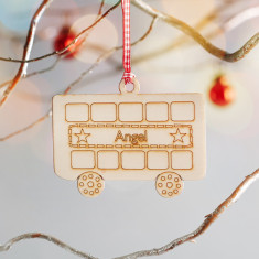Personalised destination bus Christmas decoration