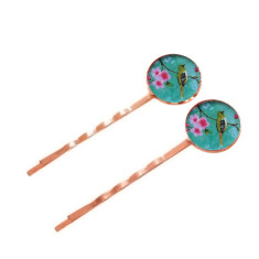 Large rose gold birdie bobby pins