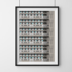 Glenkerry House London giclee art print