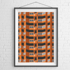 Worlds End Estate London 2 giclee art print