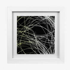 Grass texture 1 framed Yalanji artwork