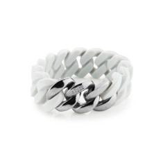 Woven bracelet in smoke & antique silver
