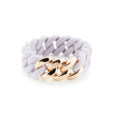 Woven bracelet in lavender and soft gold