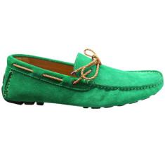 Loafers rope apple green men's shoe
