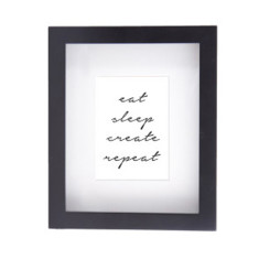 Eat sleep create framed print