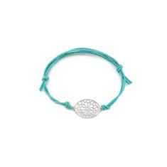 Silver oval mosaic bracelet