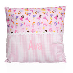 Personalised name cushion in princess