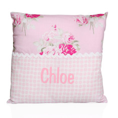 Personalised name cushion in rose