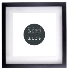 Life type framed print