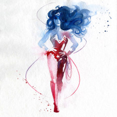 The first Wonder Woman print