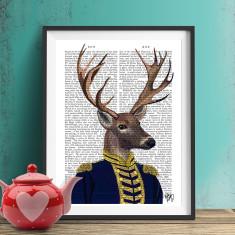 Captain deer book print