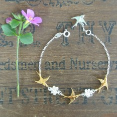 Faith silver and gold bracelet