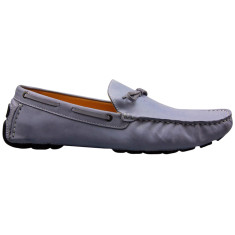 Loafers lace nubuck leather lilac men's shoe