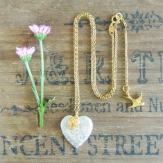 Charlotte silver and gold hearts necklace