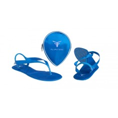 Flipsters foldable flip flop shoes in blue