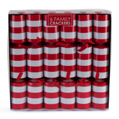 Christmas crackers in red stripe