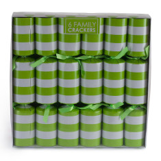 Christmas crackers in lime stripe