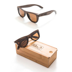 Small bond wood sunglasses in dark natural