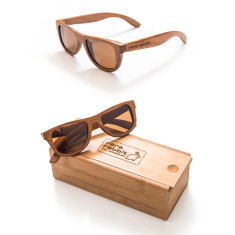 Small bond wood sunglasses in light natural