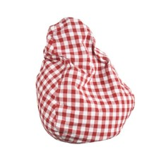 Red gingham beanbag cover