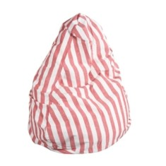 Red stripe beanbag cover