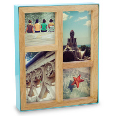 Umbra fotoblock desk photo frame in surf blue